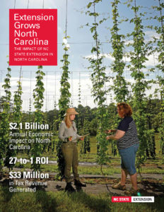 Cover of the 2019 NC State Extension Impacts Booklet